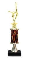 "11""+ Flame Column w/Pedestal Female Gymnastics Trophy"
