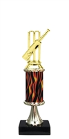 "11""+ Flame Column w/Pedestal Cricket Trophy"