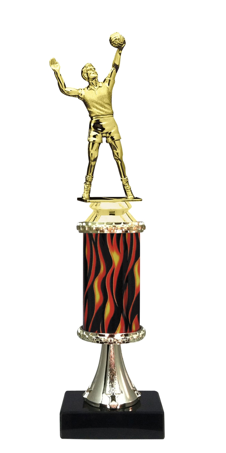 Male Volleyball Trophy on Marble Base