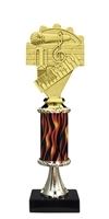 "11""+ Flame Column w/Pedestal Music Trophy"