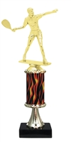 "11""+ Flame Column w/Pedestal Female Raquetball Trophy"