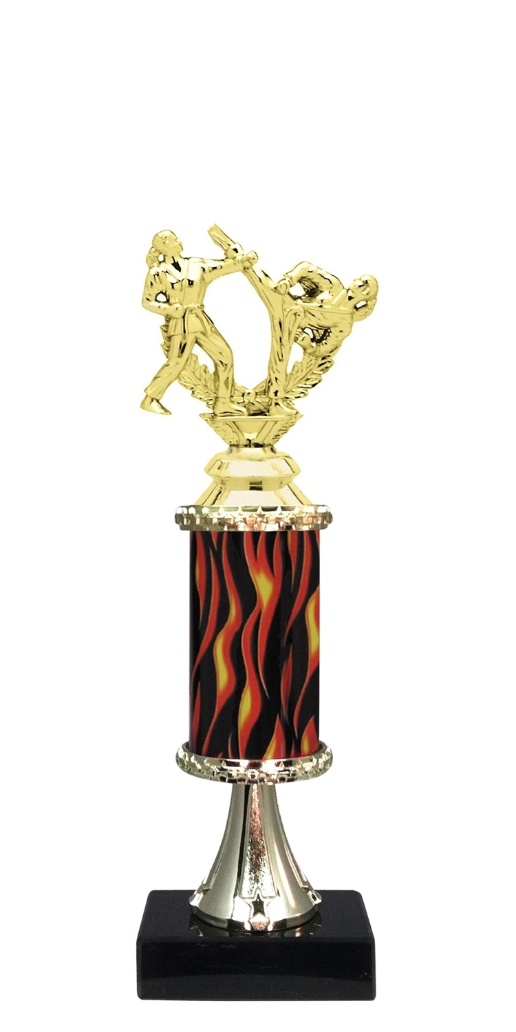 Female Martial Arts Trophy on Marble Base