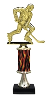 "11""+ Flame Column w/Pedestal Street Hockey Trophy"