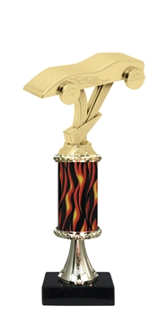 "11""+ Flame Column w/Pedestal Pinewood Derby Trophy"