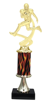 "11""+ Flame Column w/Pedestal Football Trophy"