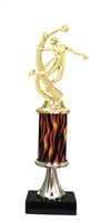 "11""+ Flame Column w/Pedestal Female Volleyball Trophy"