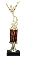"11""+ Flame Column w/Pedestal Dance Trophy"