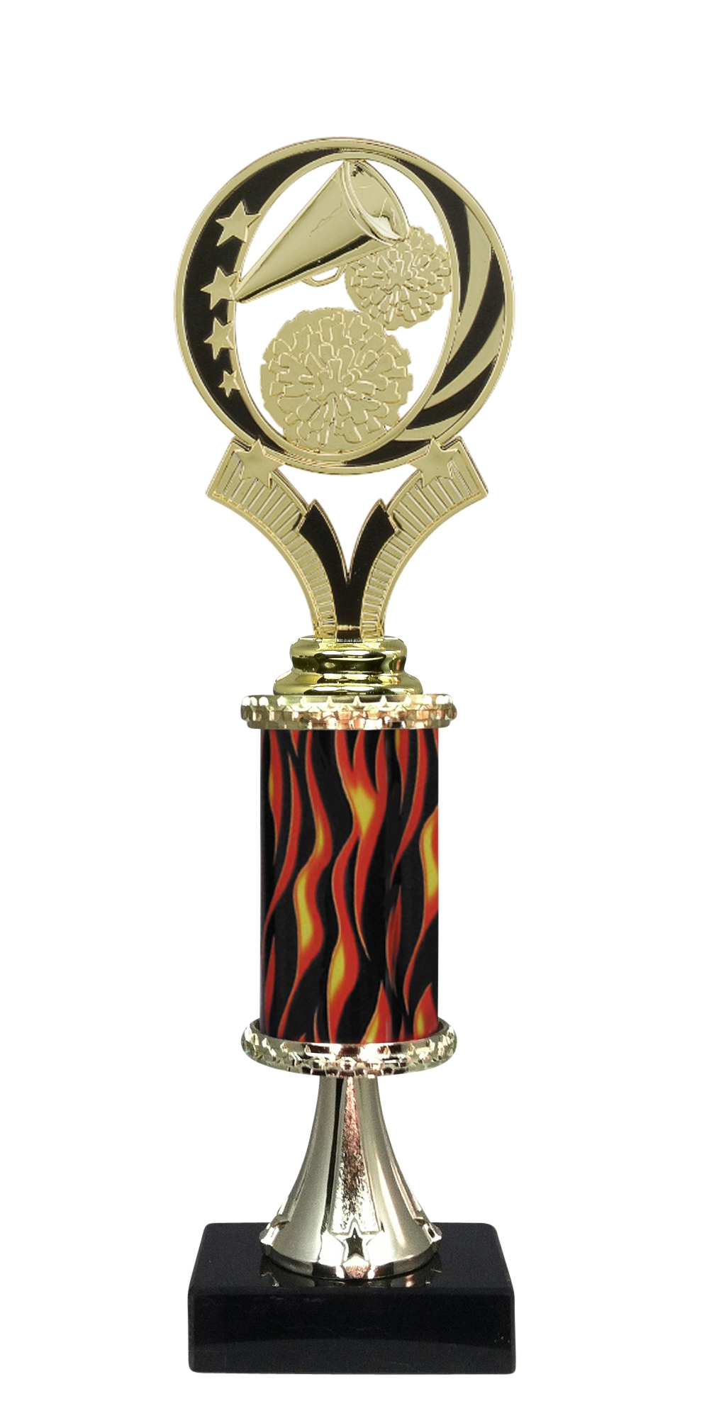 "12"" Flame Cheerleading Trophy"
