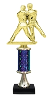 "11""+ STARBURST Column w/Pedestal Judo Trophy in 5 Colors"