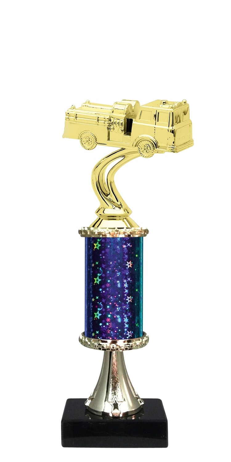 Firetruck Trophy on Marble Base available in 5 Colors