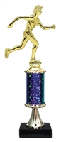 Female Cross Country Trophy on Marble Base available in 5 Colors