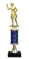 Female Darts Trophy on Marble Base available in 5 Colors