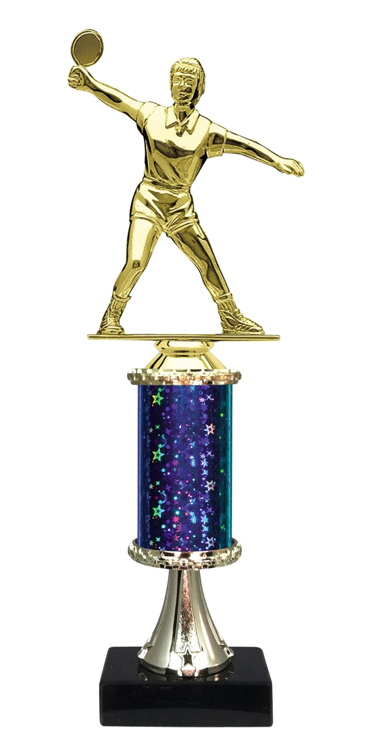 Female Ping Pong Trophy on Marble Base available in 5 Colors