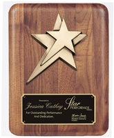 9 x 12 American Walnut Plaque with Star
