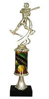 PC8 Pedestal Round Column Girls Softball Trophy