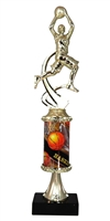 PC8 Pedestal Round Column Girls Basketball Trophy