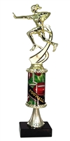 PC8 Pedestal Round Column Girls Flag Football Trophy