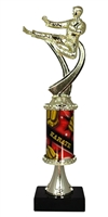 PC8 Pedestal Round Column Male Karate Trophy
