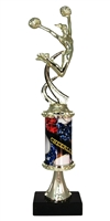 PC8 Pedestal Round Column Cheerleading Trophy