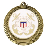 "2-3/4"" US Coast Guard Mylar Medal"