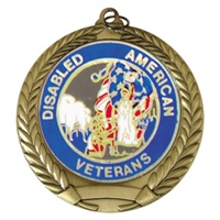 "2-3/4"" Disabled American Veterans Mylar Medal"