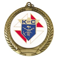 "2-3/4"" Knights of Columbus Mylar Medal"
