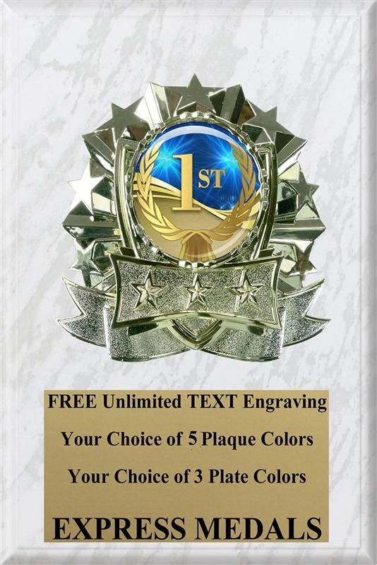 1st Place Plaque 6x8 1st Place Plaque Express Medals
