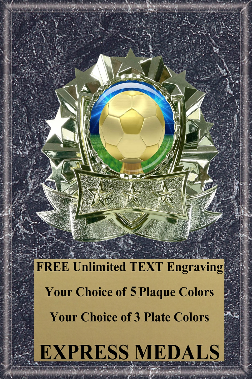 Dome Insert Kid Soccer Plaque (4 Sizes)