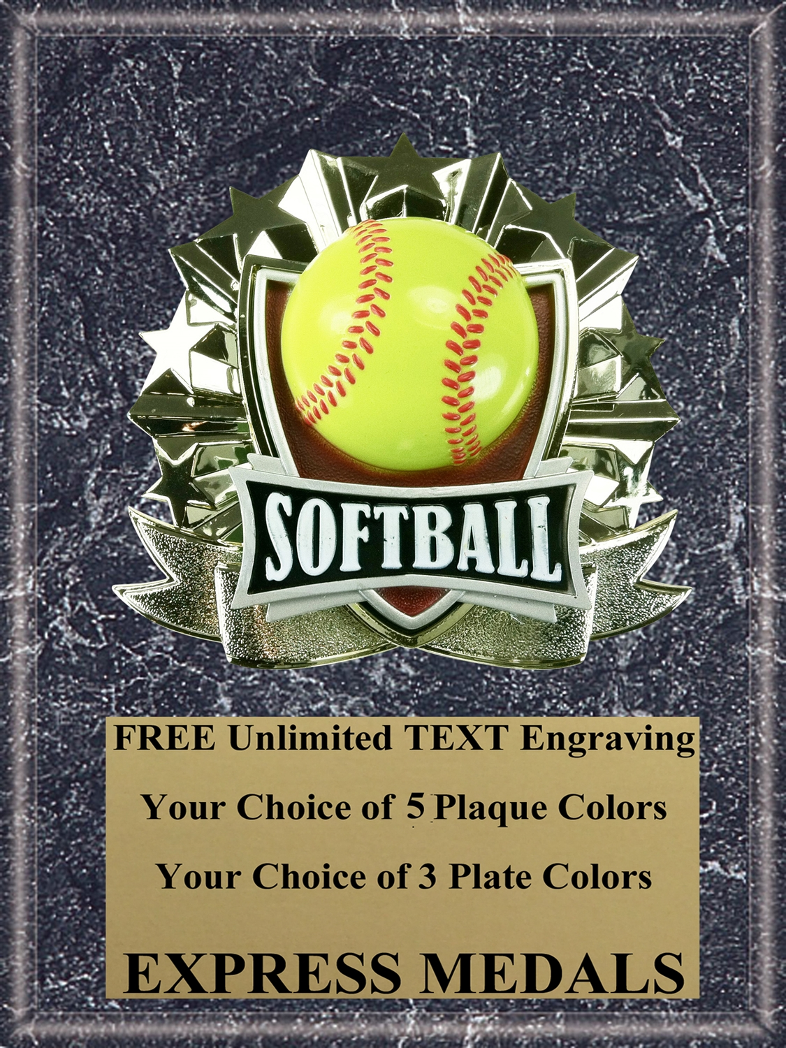 All-Star Softball Plaque (4 Sizes) (PM1262)