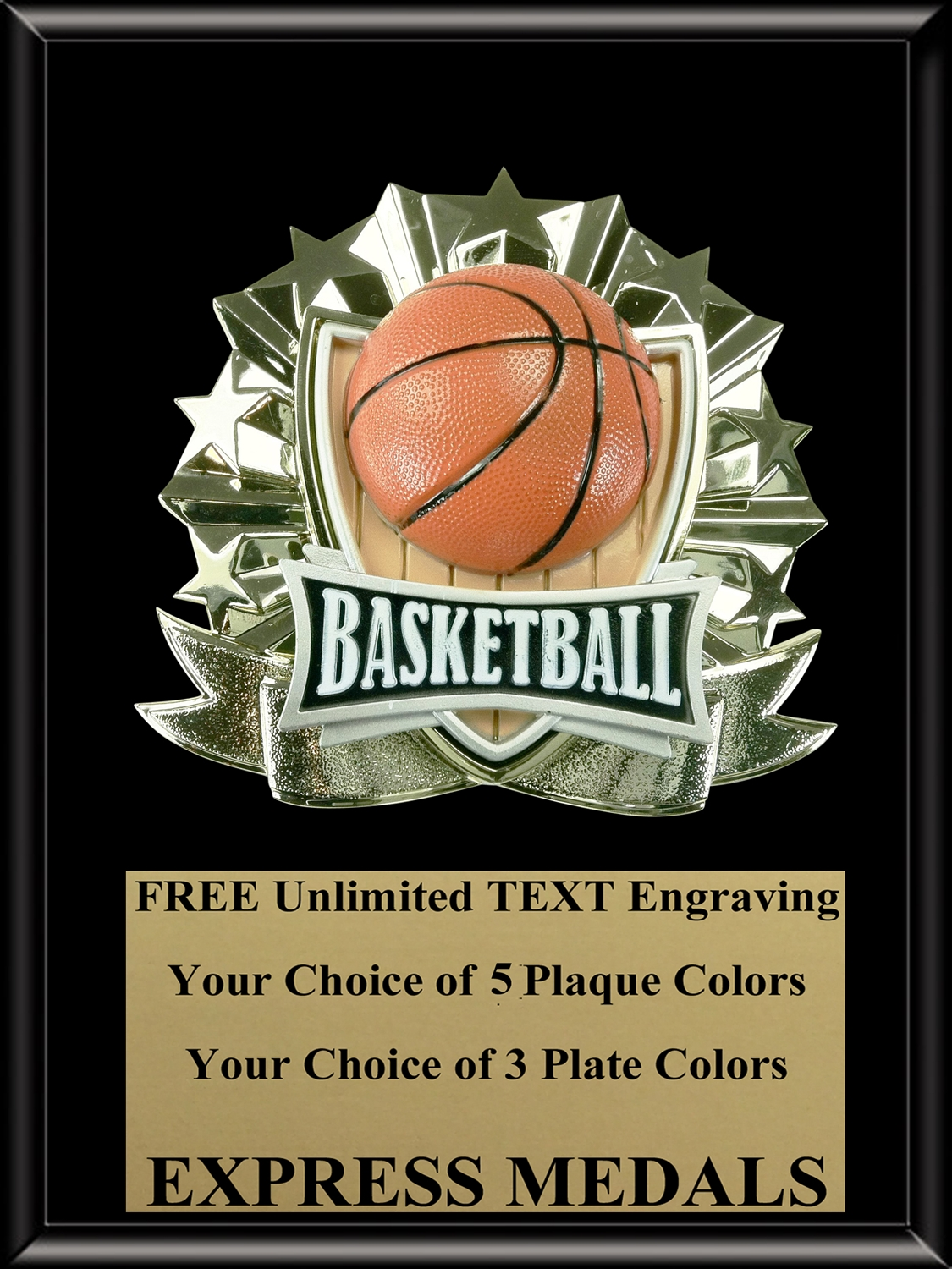 All-Star Basketball Plaque (4 Sizes) (PM1263)
