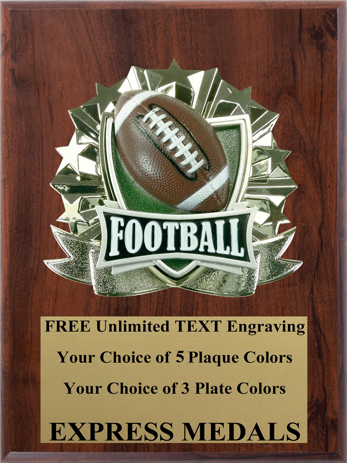All-Star Football Plaque (4 Sizes) (PM1266)