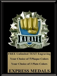 All-Star Karate Plaque (4 Sizes) (PM1271)
