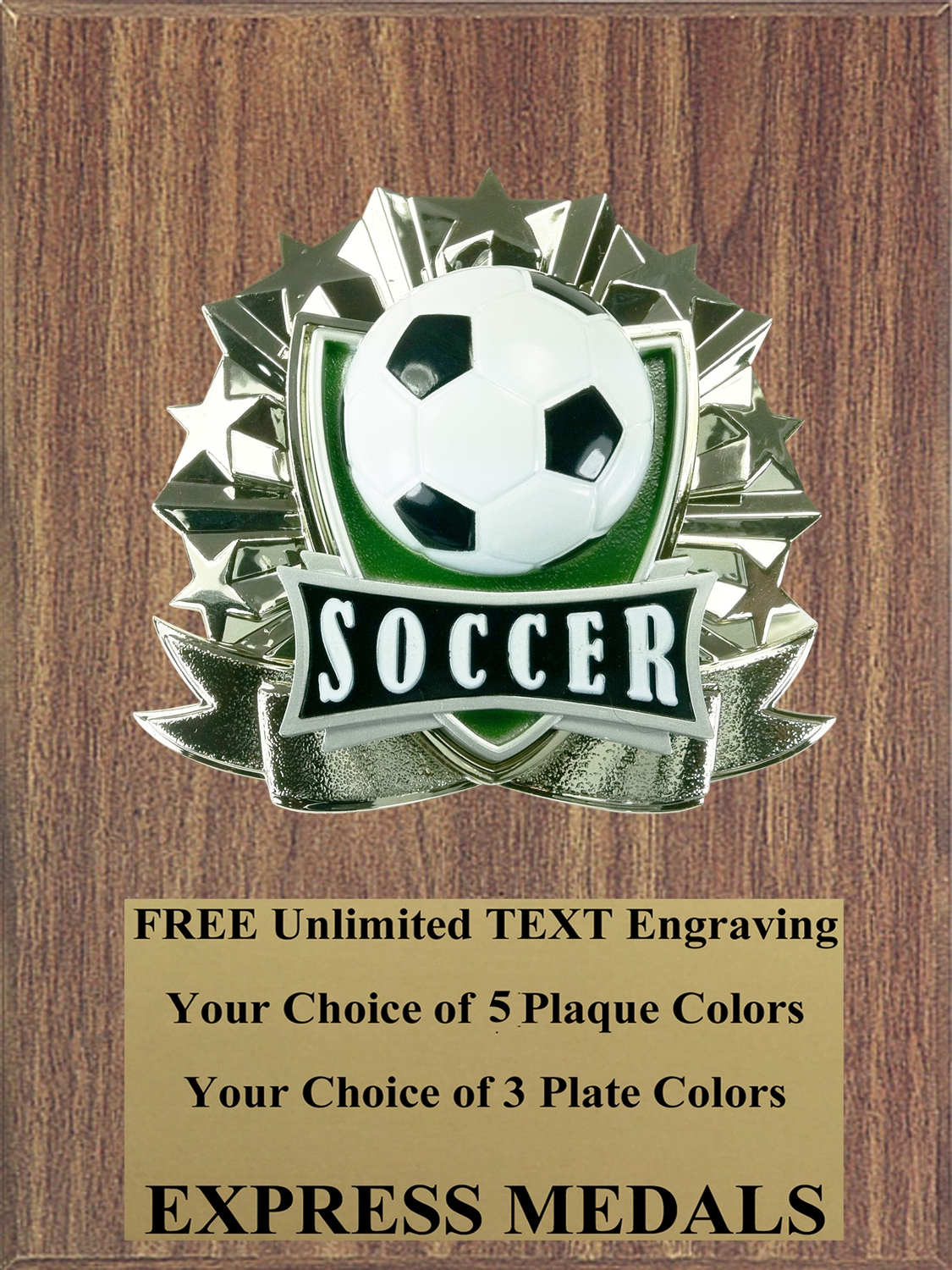 All-Star Soccer Plaque (4 Sizes) (PM1273)