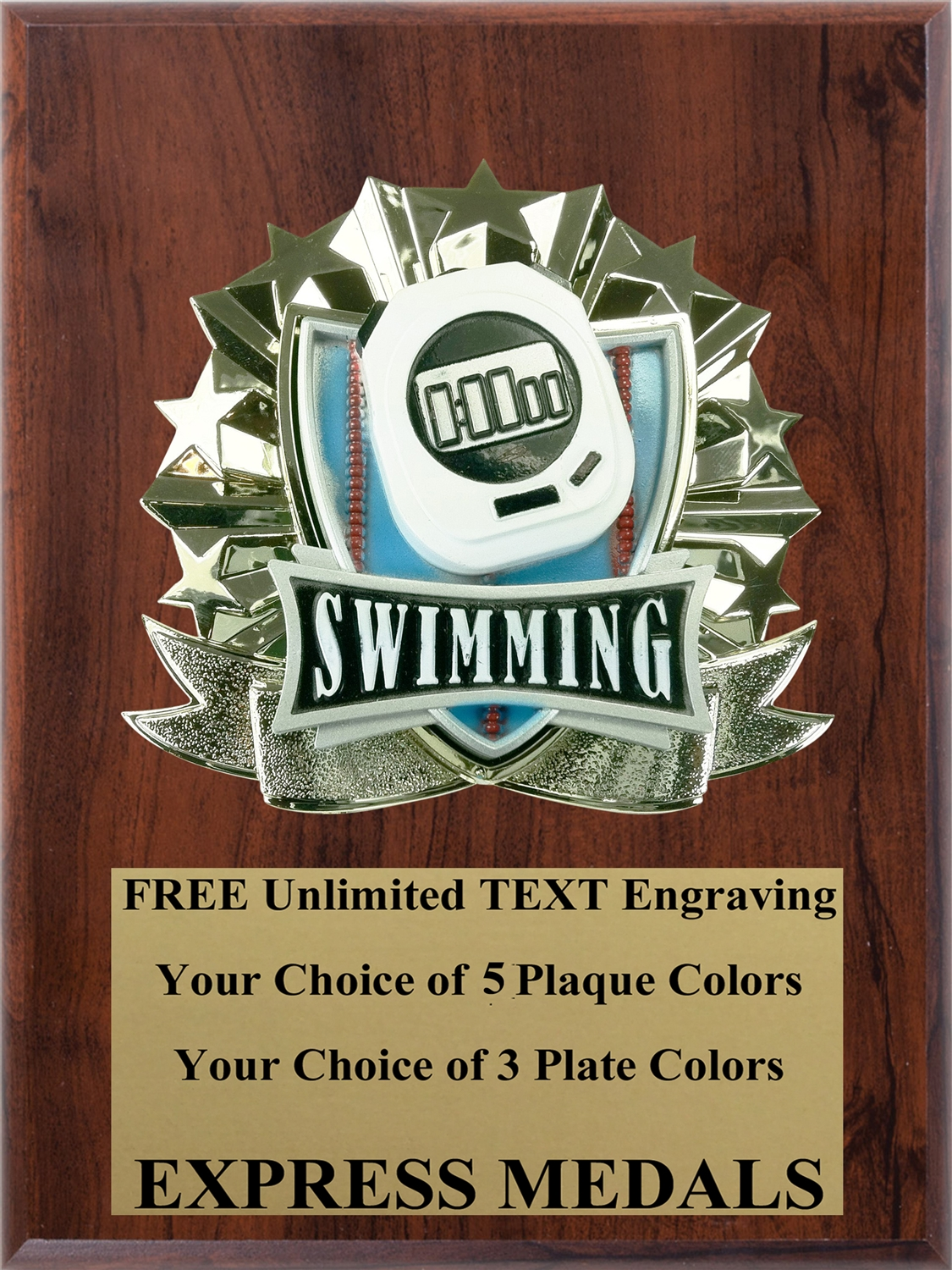 All-Star Swimming Plaque (4 Sizes) (PM1274)
