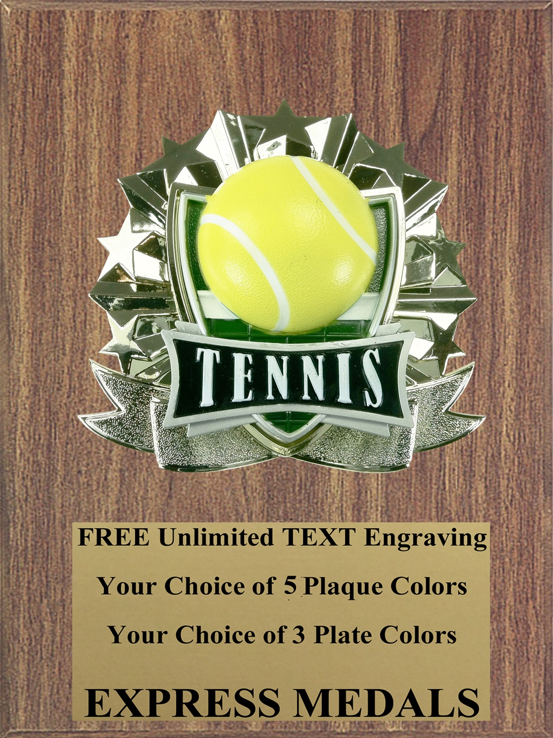 All-Star Tennis Plaque (4 Sizes) (PM1275)