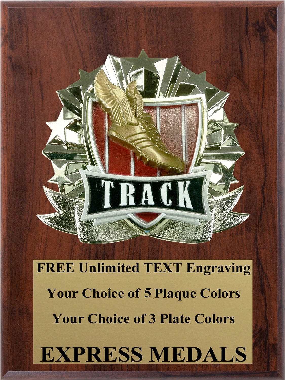 All-Star Track Plaque (4 Sizes) (PM1276)