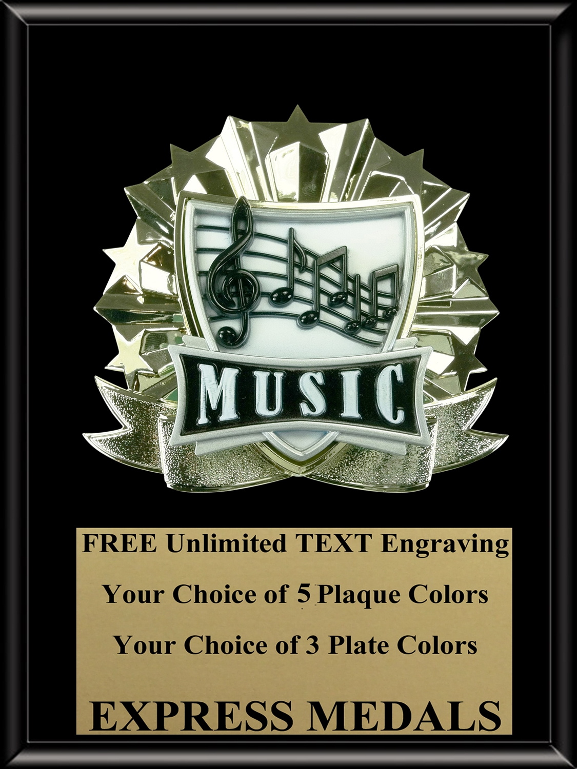 All-Star Music Plaque (4 Sizes) (PM1279)