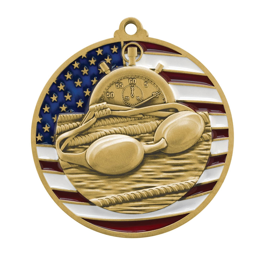 Patriot Swimming Medal