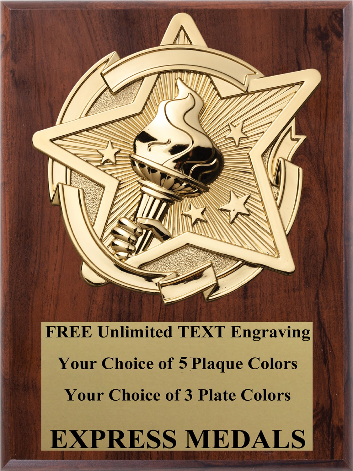 Star Victory Plaque  (4 Sizes)