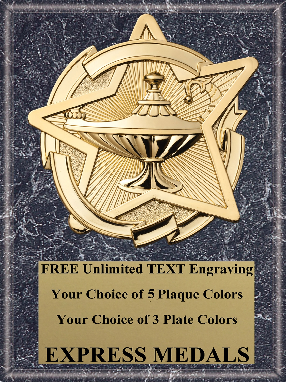 Star Lamp of Knowledge Plaque (4 Sizes)