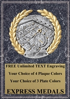 Platinum Swimming Plaque 4x6 & 5x7 PM5114-VL