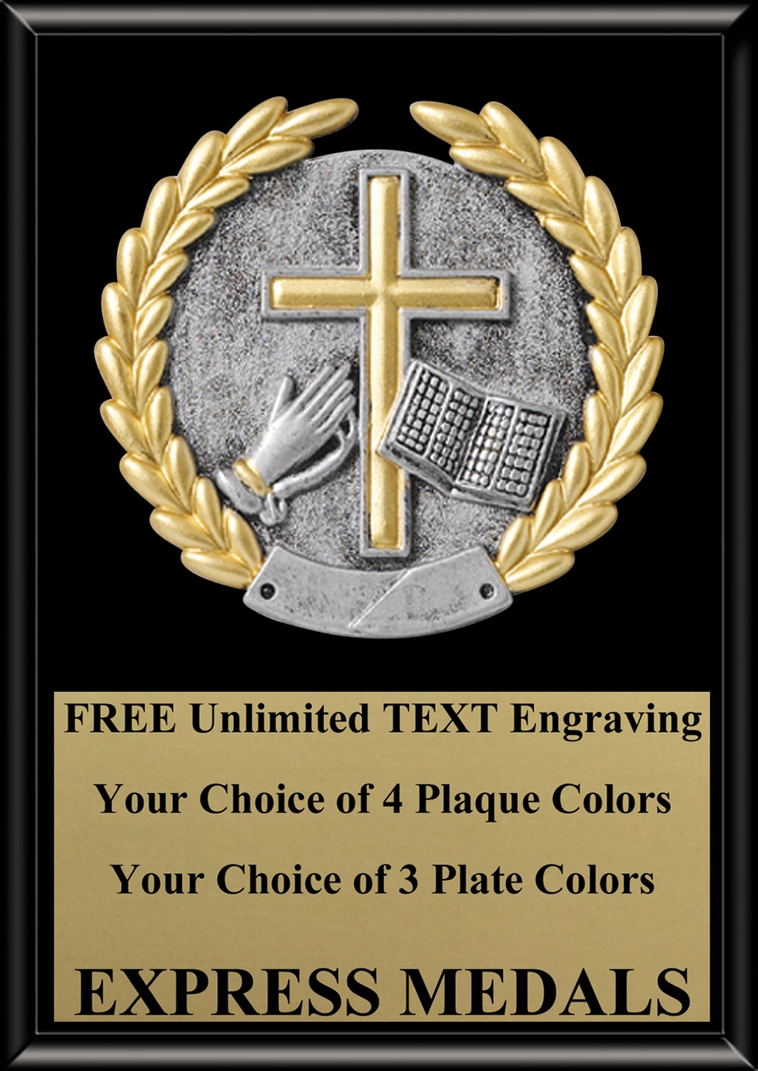 Platinum Religion Plaque 4x6 & 5x7 PM5131-VL