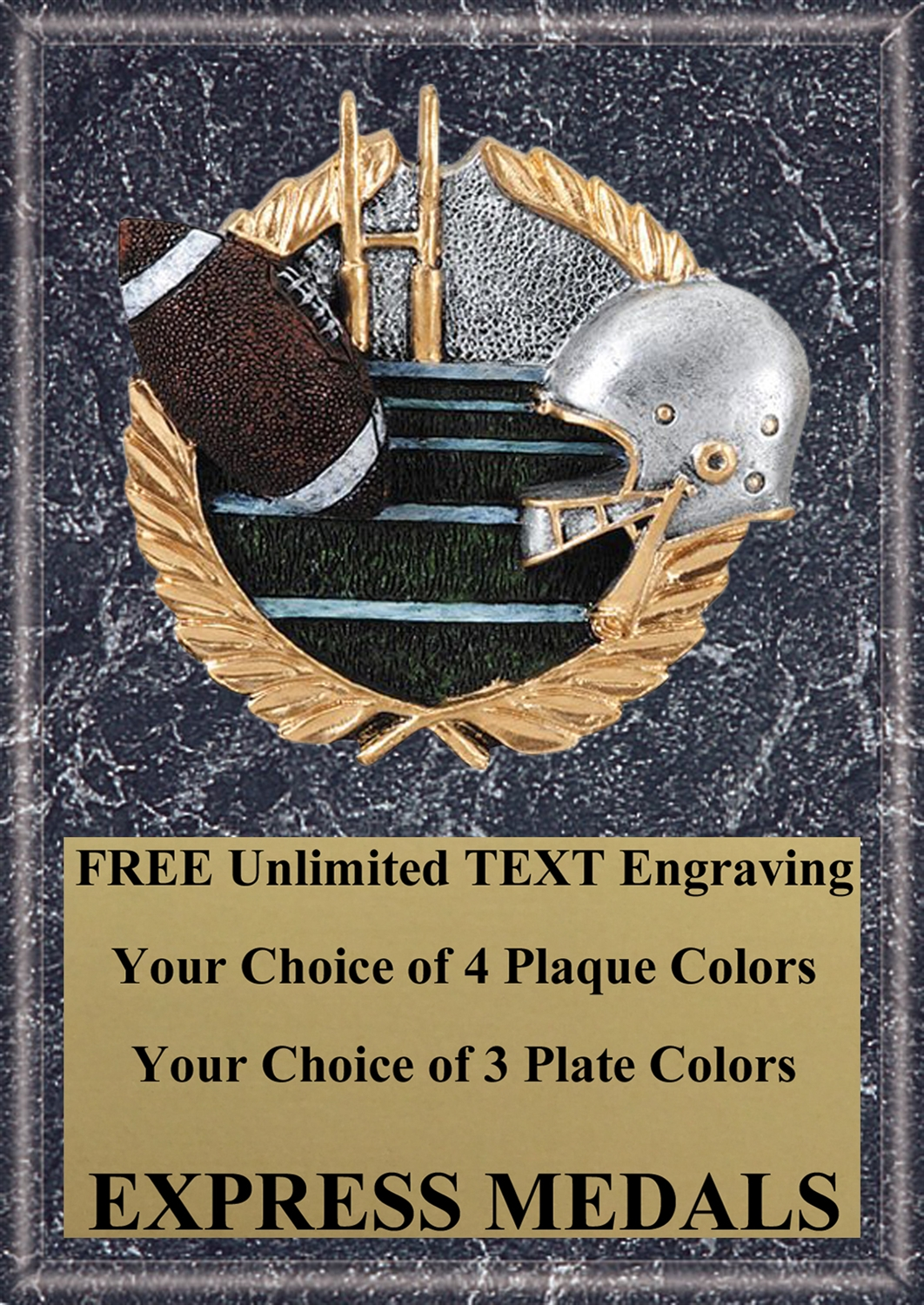 Full Color Football Plaque 4x6 & 5x7 PM653-VL