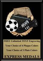 Full Color Soccer Plaque 4x6 & 5x7 PM654-VL