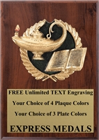 Full Color Lamp Scholastic Plaque 4x6 & 5x7 PM656-VL