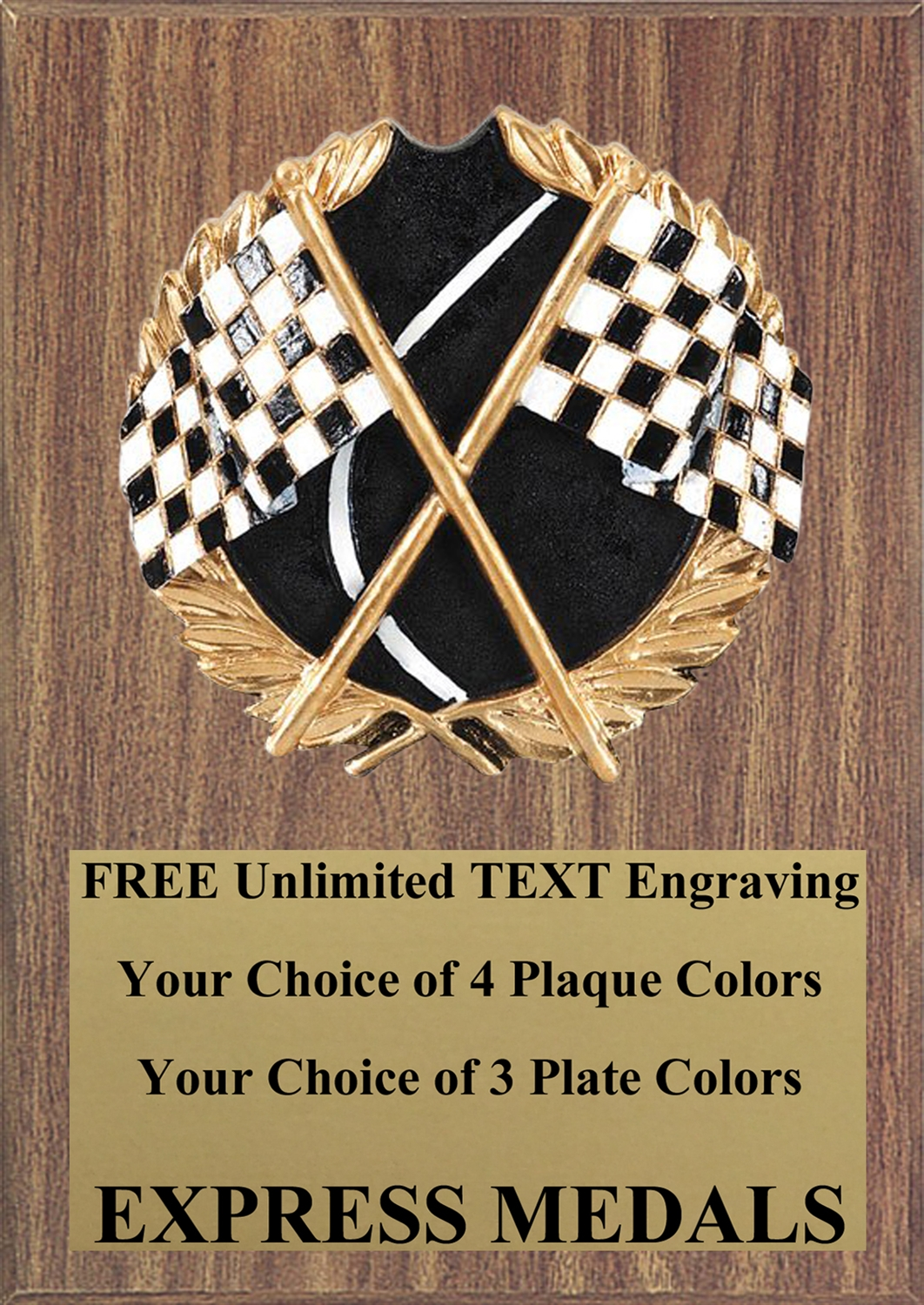 Full Color Racing Plaque 4x6 & 5x7 PM669-VL