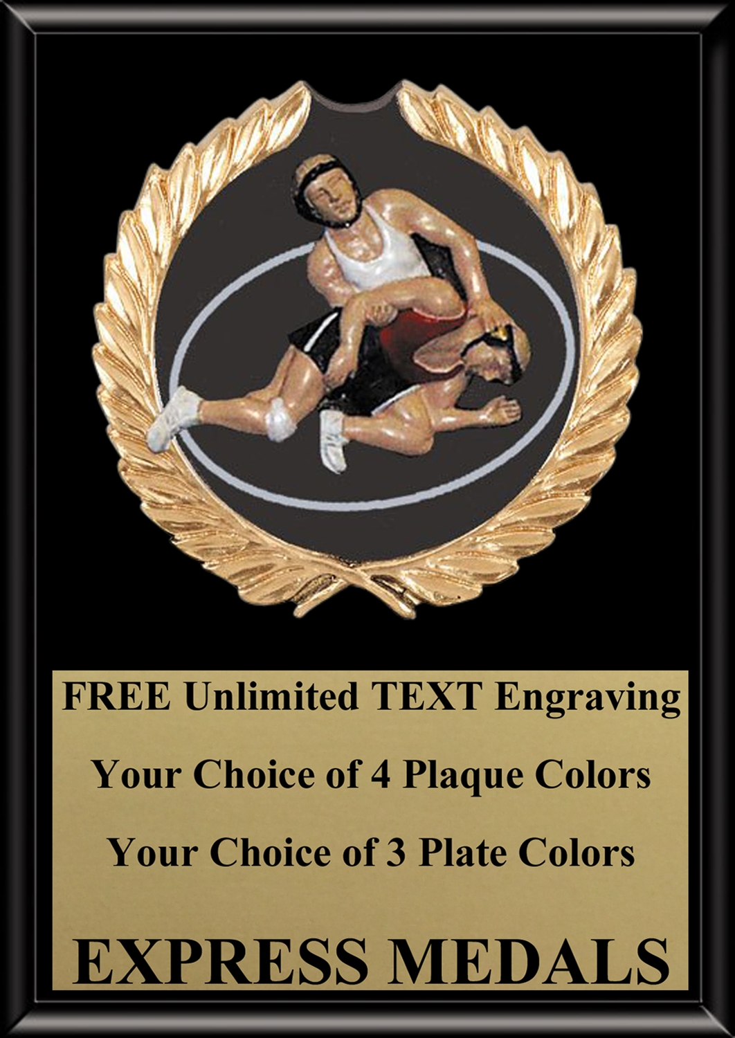 Full Color Wrestling Plaque 4x6 & 5x7 PM670-VL