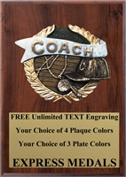 Full Color Coach Plaque 4x6 & 5x7 PM673-VL