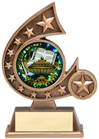 "5-3/4"" Holographic Diamond Comet Series Scholastic Trophy"