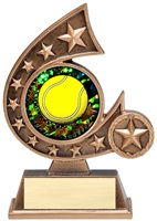 "5-3/4"" Holographic Diamond Comet Series Tennis Trophy"